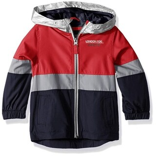 London Fog Boys 2T-4T Color Blocked Hooded Jacket - Blue (2 options available)