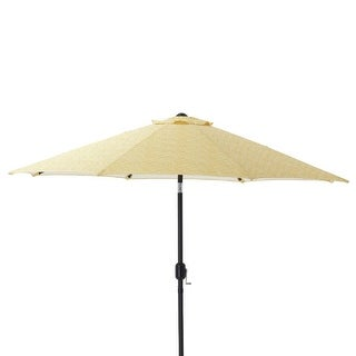 9' Yellow Brighter Day Decorative Market Umbrella with Hand Crank and Tilt