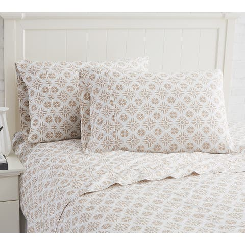Aztec Dreams 100% Cotton Extra Deep Pocket Sheet Set