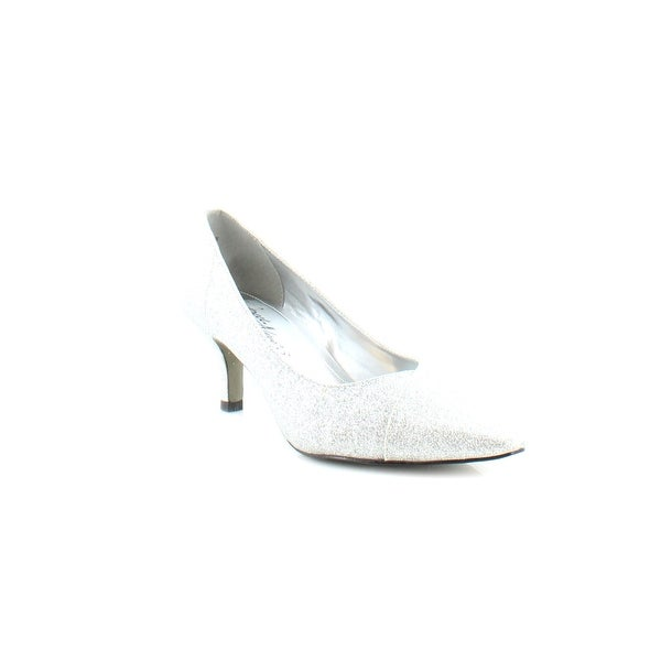 Easy Street Chiffon Women's Heels Silver Glitter - 7
