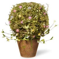 "24"" Potted Spring Artificial Flower Tree - green"