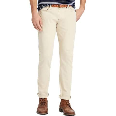 Polo Ralph Lauren Varick Slim Fit Straight Leg Jeans 36W x 30L Light Khaki