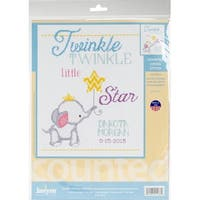 """Twinkle Twinkle Little Star Counted Cross Stitch Kit-9""""X12"""" 14 Count"""