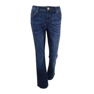 INC International Concepts Women's Curvy Bootcut Jeans - Indigo