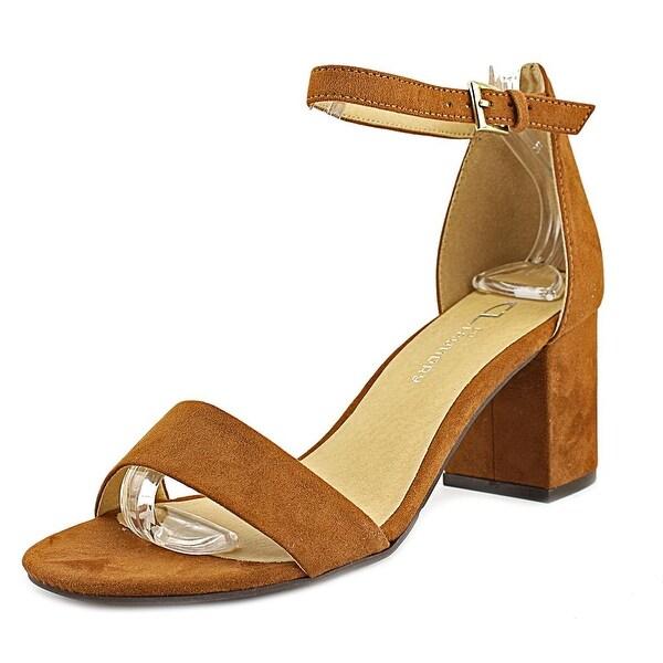 CL By Laundry Jessie Women Open-Toe Synthetic Brown Slingback Heel
