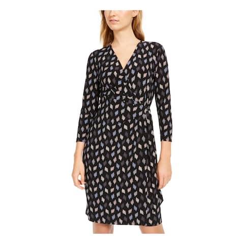 ANNE KLEIN Black 3/4 Sleeve Above The Knee Dress XXS