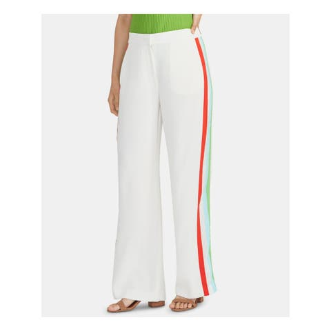 RACHEL ROY Womens Ivory Striped Pants Size S