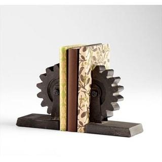 """Cyan Design 5347 7"""" Gear Book End - Grey"""