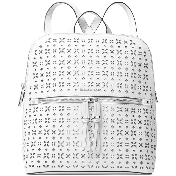 0fba40811dce Shop MICHAEL Michael Kors Rhea Zip Medium Slim Backpack Optic White - One  Size - Free Shipping Today - Overstock.com - 27129801