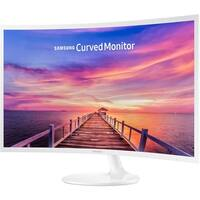 """Samsung 27"""" CF391 Curved LED White Monitor (Certified Refurbished)"""