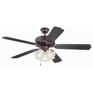 "Craftmade K11110 Pro Builder 204 52"" 5 Blade Indoor Ceiling Fan with Light Kit and Blades Included"