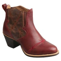 Twisted X Boots Women's WWF0006 Western Fashion Boot Wine/Brown Leather