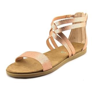 Baretraps Thyme Women Open Toe Leather Pink Gladiator Sandal