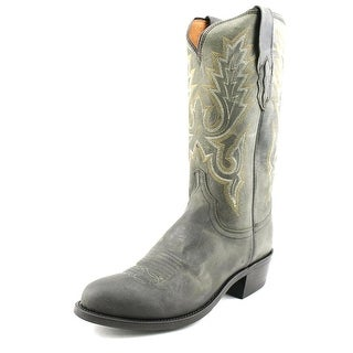 Lucchese Goat Men Round Toe Leather Western Boot