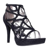 Report Rocko Platform Strappy Dress Sandals, Black Shimmer