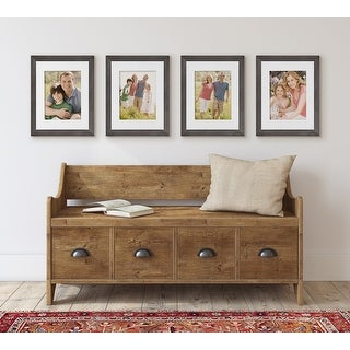Link to Kate and Laurel Bordeaux Wood Photo Frame Set Similar Items in Decorative Accessories
