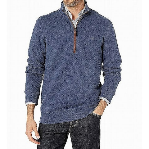 Southern Tide Mens Sweaters Blue Size 2XL 1/2 Zip Quilted Mock Neck