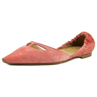Roger Vivier Ballet Tacco 05 Women Pointed Toe Suede Pink Flats