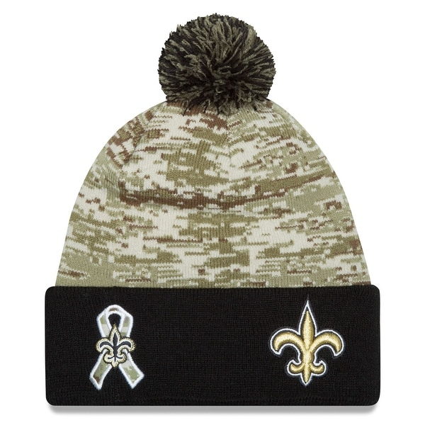 Shop New Era NFL 2015 Salute Knit Pom Beanie Hat - New Orleans Saints -  Free Shipping On Orders Over  45 - Overstock.com - 18617421 42d64ab1f