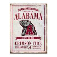 University of Alabama Vintage Tin Sign
