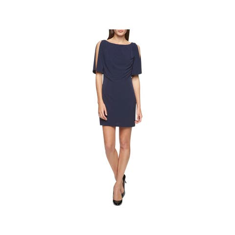Jessica Simpson Womens Special Occasion Dress Off-The-Shoulder Embellished