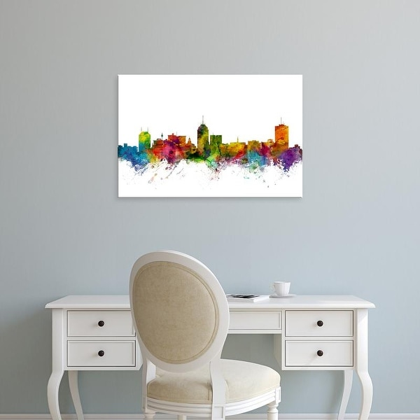 Easy Art Prints Michael Tompsett's 'Fresno California Skyline' Premium Canvas Art