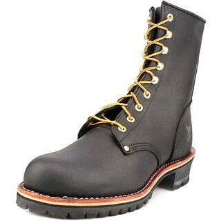 Georgia Boot Carolina Logger Men Round Toe Leather Black Work Boot