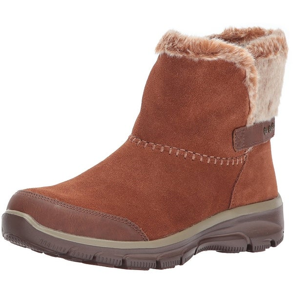 Skechers Womens Going Quantum Leather Closed Toe Ankle Fashion Boots