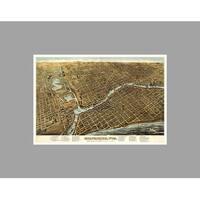 Milwaukee (36x24) Vintage City Maps Matte Poster 36x24