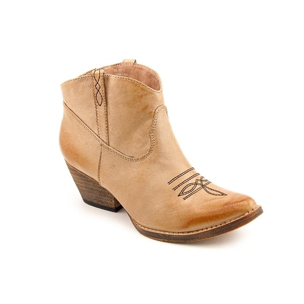Volatile Banjo Women Pointed Toe Leather Ankle Boot