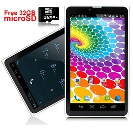 "Indigi® 7.0"" 3G Unlocked 2-in-1 DualSIM SmartPhone + TabletPC Android 4.4 KitKat WiFi + Bluetooth Sync w/ 32gb microSD"
