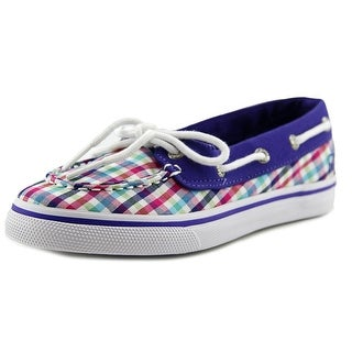 Sperry Top Sider Biscayne 1 Eye Youth Moc Toe Canvas Multi Color Boat Shoe