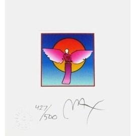 "Angel with Sun II, Ltd Ed Litho (Mini 4.875"" x 4.5""), Peter Max"