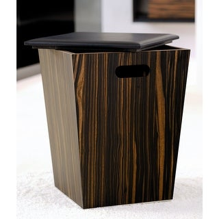"WS Bath Collections 55.92.01 18.1"" Laundry Basket from the Concert Collection - ebony wood"