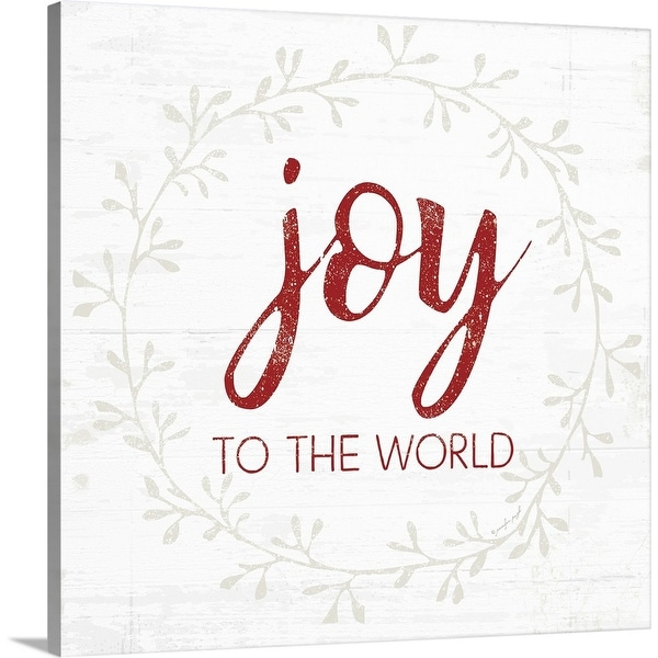"""""""Joy to the World - Red"""" Canvas Wall Art"""
