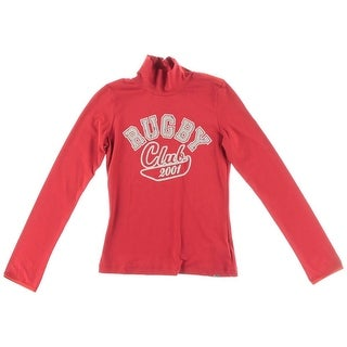 D&G Girls Pullover Top Glitter Graphic - S