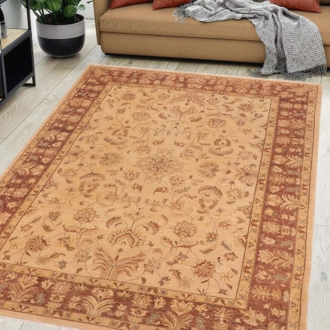 Ziegler Kafkaz Lynette Tan/Brown Wool Rug (10'3 x 13'9) - 10 ft. 3 in. x 13 ft. 9 in.