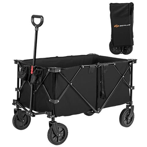 Collapsible Wagon Folding Utility Wagon Cart with Wheels