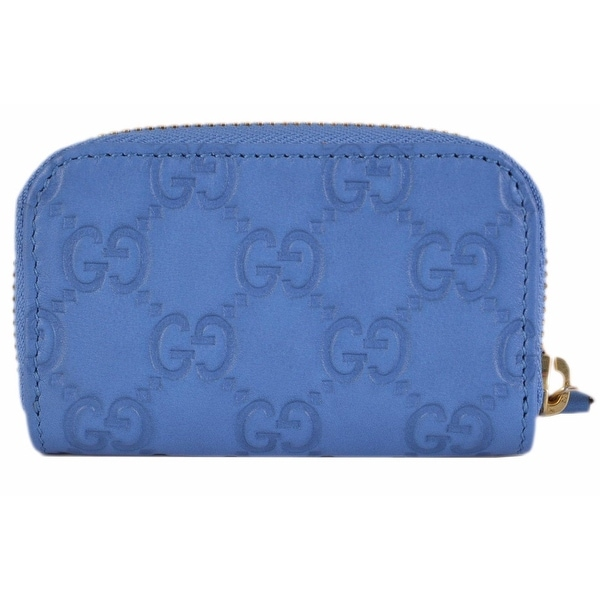 c6c58f6d70b Shop Gucci 324801 Blue Leather GG Guccissima Mini Zip Around Coin Purse -  Free Shipping Today - Overstock - 12098646