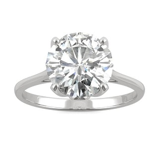 2.70ct Moissanite Solitaire Engagement Ring in 14k Gold