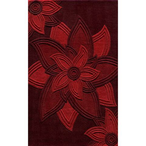 Momeni Delhi Hand Tufted Wool Floral Area Rug
