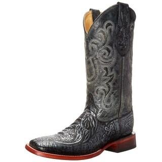 Ferrini Western Boots Mens Cowboy Embossed Cross Silver 11893-34