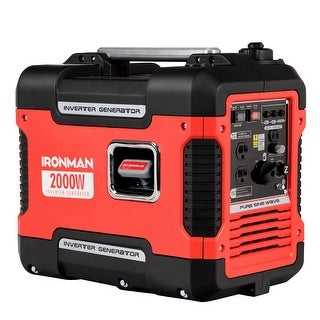 IRONMAN 2000W Portable Inverter Gasoline Generator Ultra Quiet 4 Stroke Single Cylinder - Red and Black