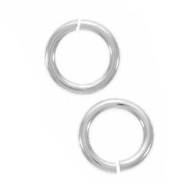 Silver Filled JUMPLOCK Jump Rings - 6mm Diameter 18 Gauge Thick (10)