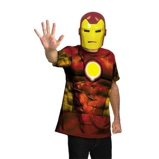Disguise Marvel Universe Iron Man Shirt Child/Adult Costume - Red - 42-46