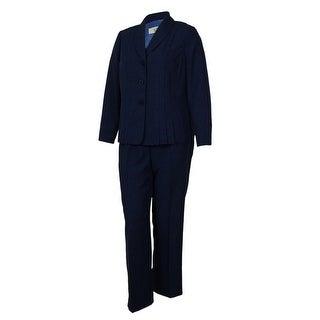 Le Suit Women's Buiness Suit Pant Set - Sapphire - 14W