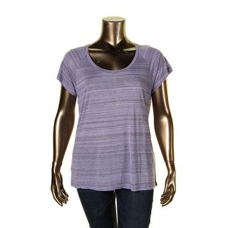 NYDJ Womens Pullover Top Jersey Etched Stripe