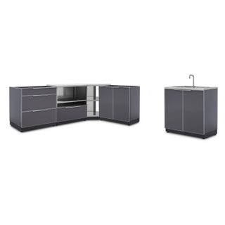 NewAge Products Outdoor Kitchen 112.375 Inch W x 24 Inch D Piece 5 Set (4 options available)