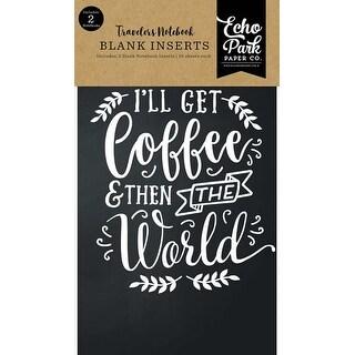 "Coffee & Friends Blank - Echo Park Traveler's Notebook Insert 4.5""X8.25"""