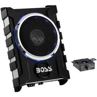 "Boss 8"" Low Profile Amplified Subwoofer with remote level control"